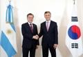 Présidents coréen et argentin