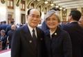 Avec Kim Yong-nam