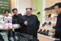 NK leader visits shoe factory