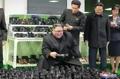 El líder norcoreano en una fábrica de zapatos