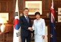 Moon y la gobernadora general de Nueva Zelanda