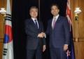 Avec le chef de l'opposition parlementaire néo-zélandaise