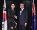 Poignée de main Corée-Nouvelle-Zélande