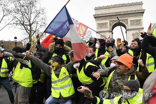 프랑스서 15일 '노란 조끼' 5차집회…시위규모 줄 듯