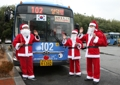 Santa bus drivers