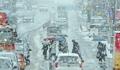 雪でゆっくり運転