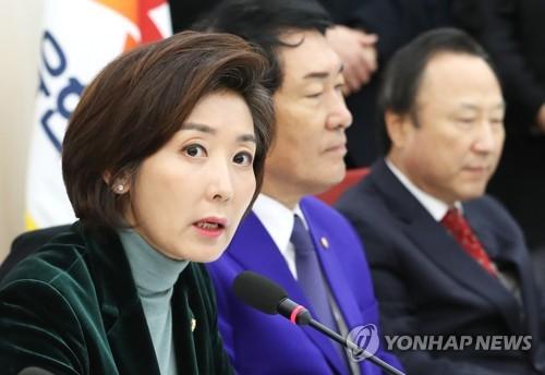 """나경원 """"선거제 개편·원포인트 개헌 같이해야""""(종합)"""