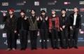 BTS at music awards in Hong Kong