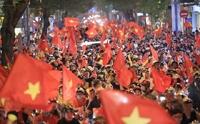 거리로 뛰쳐나온 베트남 축구팬들