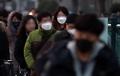 PM濃度上昇 マスク姿で出勤