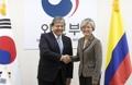 Chefs des diplomaties coréenne et colombienne