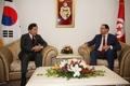 Los PM de Corea del Sur y Túnez