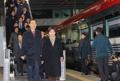 Ceremonia de inauguración del proyecto ferroviario y vial intercoreano