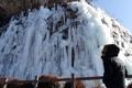 噴水も凍る寒波