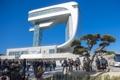 北朝鮮を一望 「統一タワー」オープン