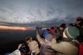 山頂で見る初日の出