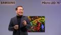 Samsung presenta su televisor MicroLED de 75 pulgadas