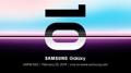 Carton d'invitation de Samsung
