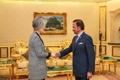 Avec le sultan du Brunei