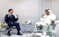 Avec le ministre d'Etat des EAU