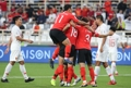 韩国队众将庆祝进球