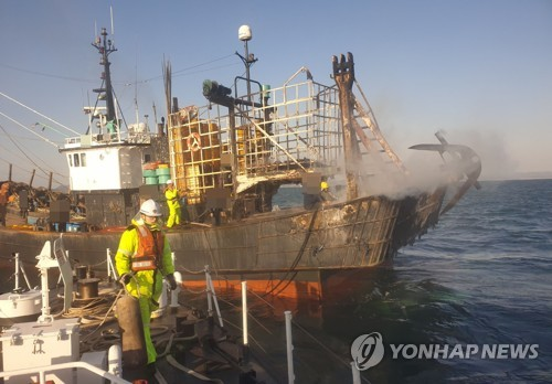 고흥 외나로도 해상서 어선 화재…1명 사망·1명 실종(종합3보)