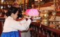Kim Jung-sook au temple Joggye