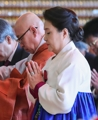 First lady attends Buddhist ritual for new year