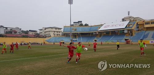 치열했던 한국·베트남 국회의원 첫 친선축구…결과는 무승부