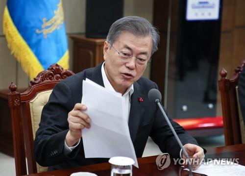 """기초단체 '복지비 지원확대' 요청…문대통령 """"개선논의"""" 지시(종합2보)"""