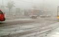 釜山で初雪
