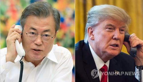 """靑 """"문대통령 '남북경협' 관련 언급에 트럼프 반응 긍정적""""(종합)"""