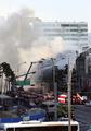 ソウル都心で火災 煙で交通規制