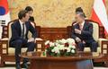 オーストリア首相と首脳会談