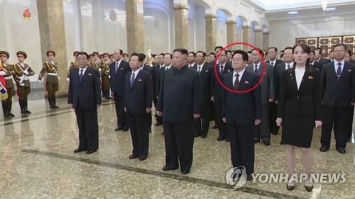 北김정은, 김정일 생일날 금수산궁전 참배…최룡해·김여정 동행(종합)