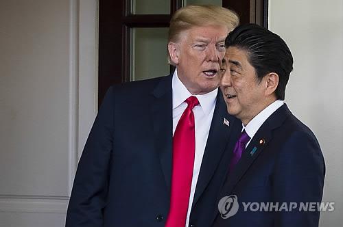 """日아베 """"북미협상 임하는 트럼프 신뢰…납치문제 꼭 해결"""""""