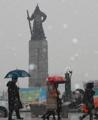 ソウルなどに大雪