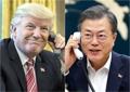 韓米首脳が電話協議 米朝会談控え