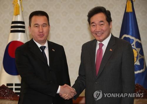 """이총리 """"투르크메니스탄, 한국 신북방정책의 핵심 협력국""""(종합)"""