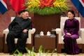 Kim avec la présidente du Parlement vietnamien