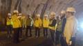 Travaux d'un tunnel sous-marin