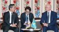 Ministres du Commerce coréen et kazakh