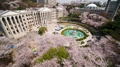 Campus universitaire en fleurs
