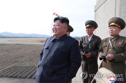 北김정은, 신형전술유도무기 사격시험 지도(1보)