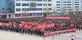 북한 강원도 결의대회 개최