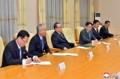 몽골대외관계성 대표단과 만난 리수용