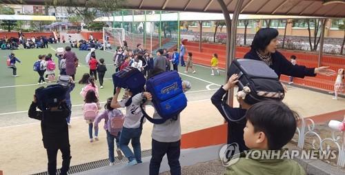 '진앙 반경 100㎞ 내 대피'…학교 지진 대응 매뉴얼 '허점'