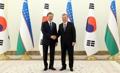 ウズベク大統領と記念撮影