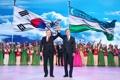 Los líderes de Corea del Sur-Uzbekistán