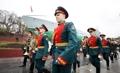 Retrait de la garde d'honneur russe